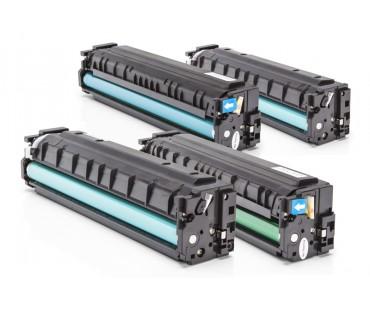 Korvaa HP CF400X, HP 201X (C,M,Y,K) 1x2800 & 3x2300 S.(5%)
