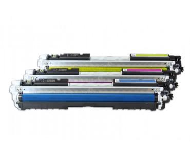 Korvaa HP CF341A / 126A Toner (C,M,Y) 3 x1000 s. (5%)